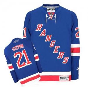 Reebok New York Rangers 21 Men's Derek Stepan Premier Royal Blue Home NHL Jersey