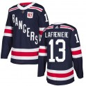 Adidas New York Rangers Youth Alexis Lafreniere Authentic Navy Blue 2018 Winter Classic Home NHL Jersey