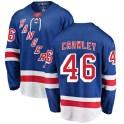 Fanatics Branded New York Rangers Youth Brandon Crawley Breakaway Blue ized Home NHL Jersey