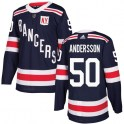 Adidas New York Rangers Youth Lias Andersson Authentic Navy Blue 2018 Winter Classic NHL Jersey