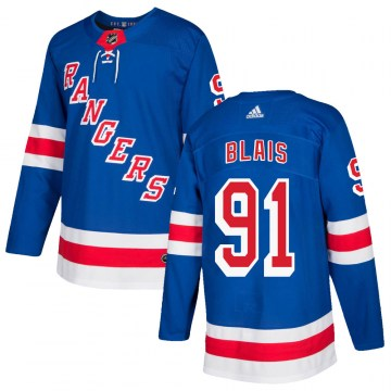 Adidas New York Rangers Men's Sammy Blais Authentic Royal Blue Home NHL Jersey