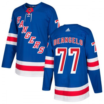 Adidas New York Rangers Men's Tony DeAngelo Authentic Royal Blue Home NHL Jersey