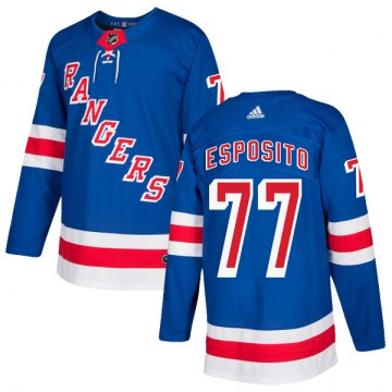 Adidas New York Rangers Men's Phil Esposito Authentic Royal Blue Home NHL Jersey