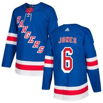 Adidas New York Rangers Men's Zac Jones Authentic Royal Blue Home NHL Jersey