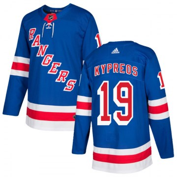 Adidas New York Rangers Men's Nick Kypreos Authentic Royal Blue Home NHL Jersey