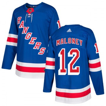 Adidas New York Rangers Men's Don Maloney Authentic Royal Blue Home NHL Jersey