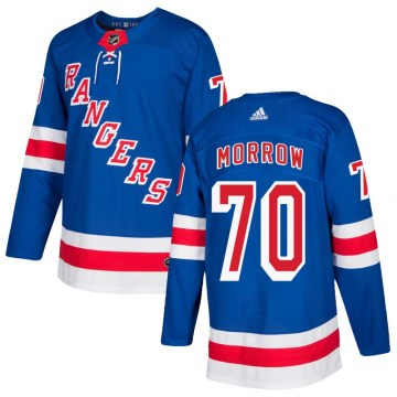 Adidas New York Rangers Men's Joe Morrow Authentic Royal Blue Home NHL Jersey