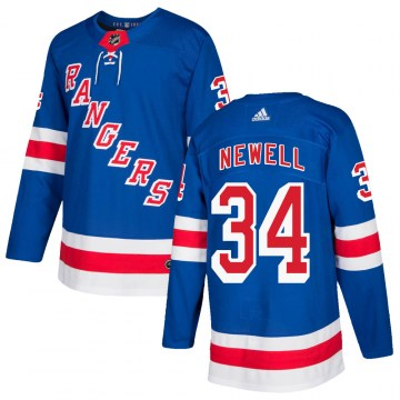 Adidas New York Rangers Men's Patrick Newell Authentic Royal Blue Home NHL Jersey