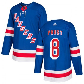 Adidas New York Rangers Men's Brandon Prust Authentic Royal Blue Home NHL Jersey
