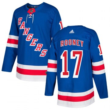 Adidas New York Rangers Men's Kevin Rooney Authentic Royal Blue Home NHL Jersey