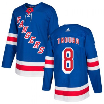 Adidas New York Rangers Men's Jacob Trouba Authentic Royal Blue Home NHL Jersey