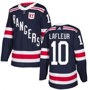 Adidas New York Rangers Men's Guy Lafleur Authentic Navy Blue 2018 Winter Classic Home NHL Jersey
