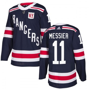 Adidas New York Rangers Men's Mark Messier Authentic Navy Blue 2018 Winter Classic Home NHL Jersey