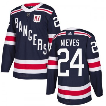 Adidas New York Rangers Men's Boo Nieves Authentic Navy Blue 2018 Winter Classic Home NHL Jersey