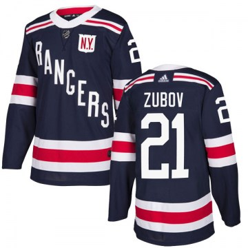 Adidas New York Rangers Men's Sergei Zubov Authentic Navy Blue 2018 Winter Classic Home NHL Jersey