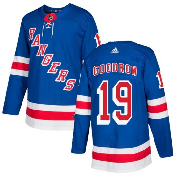 Adidas New York Rangers Youth Barclay Goodrow Authentic Royal Blue Home NHL Jersey