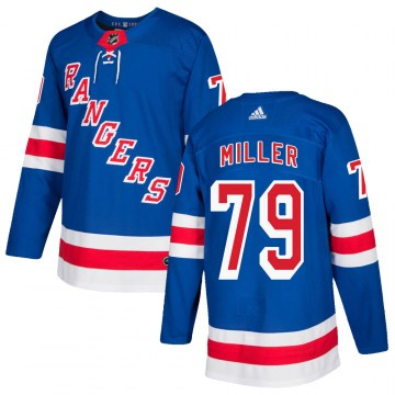 Adidas New York Rangers Youth KAndre Miller Authentic Royal Blue Home NHL Jersey