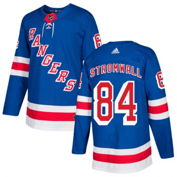 Adidas New York Rangers Youth Malte Stromwall Authentic Royal Blue Home NHL Jersey