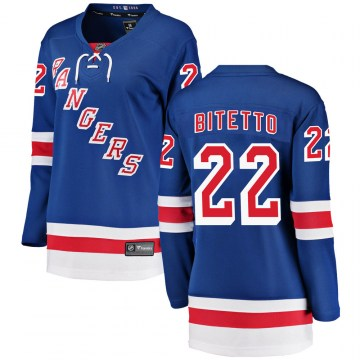Fanatics Branded New York Rangers Women's Anthony Bitetto Breakaway Blue Home NHL Jersey