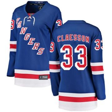 Fanatics Branded New York Rangers Women's Fredrik Claesson Breakaway Blue Home NHL Jersey