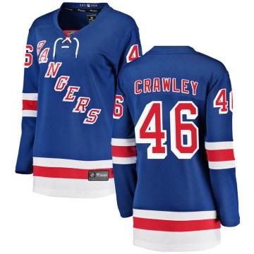 Fanatics Branded New York Rangers Women's Brandon Crawley Breakaway Blue ized Home NHL Jersey