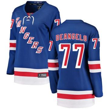 Fanatics Branded New York Rangers Women's Tony DeAngelo Breakaway Blue Home NHL Jersey