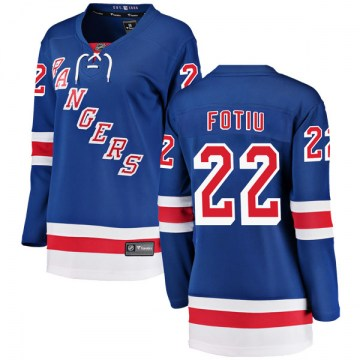 Fanatics Branded New York Rangers Women's Nick Fotiu Breakaway Blue Home NHL Jersey