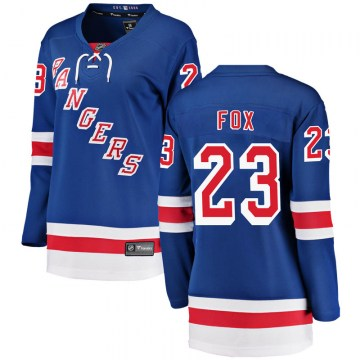 Fanatics Branded New York Rangers Women's Adam Fox Breakaway Blue Home NHL Jersey