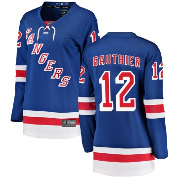 Fanatics Branded New York Rangers Women's Julien Gauthier Breakaway Blue ized Home NHL Jersey