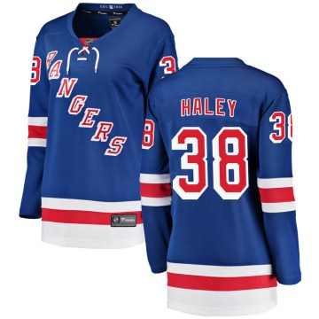 Fanatics Branded New York Rangers Women's Micheal Haley Breakaway Blue Home NHL Jersey