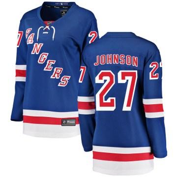 Fanatics Branded New York Rangers Women's Jack Johnson Breakaway Blue Home NHL Jersey