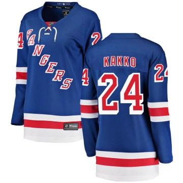 Fanatics Branded New York Rangers Women's Kaapo Kakko Breakaway Blue Home NHL Jersey
