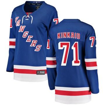 Fanatics Branded New York Rangers Women's Keith Kinkaid Breakaway Blue Home NHL Jersey