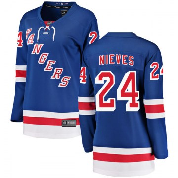 Fanatics Branded New York Rangers Women's Boo Nieves Breakaway Blue Home NHL Jersey