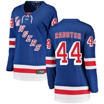 Fanatics Branded New York Rangers Women's Darren Raddysh Breakaway Blue ized Home NHL Jersey