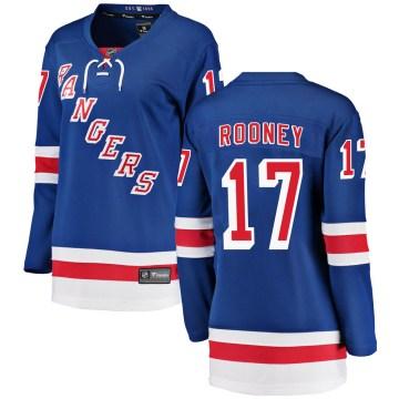 Fanatics Branded New York Rangers Women's Kevin Rooney Breakaway Blue Home NHL Jersey