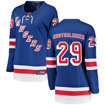 Fanatics Branded New York Rangers Women's Reijo Ruotsalainen Breakaway Blue Home NHL Jersey
