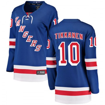 Fanatics Branded New York Rangers Women's Esa Tikkanen Breakaway Blue Home NHL Jersey