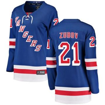 Fanatics Branded New York Rangers Women's Sergei Zubov Breakaway Blue Home NHL Jersey