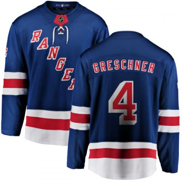 Fanatics Branded New York Rangers Youth Ron Greschner Breakaway Blue Home NHL Jersey