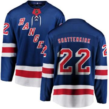 Fanatics Branded New York Rangers Youth Kevin Shattenkirk Breakaway Blue Home NHL Jersey