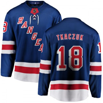 Fanatics Branded New York Rangers Youth Walt Tkaczuk Breakaway Blue Home NHL Jersey