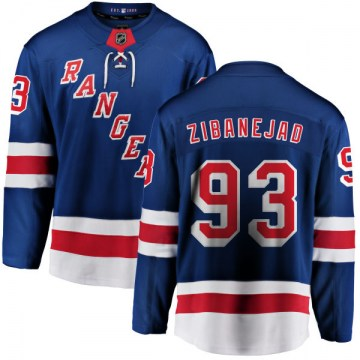 Fanatics Branded New York Rangers Men's Mika Zibanejad Breakaway Blue Home NHL Jersey