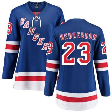 Fanatics Branded New York Rangers Women's Jeff Beukeboom Breakaway Blue Home NHL Jersey