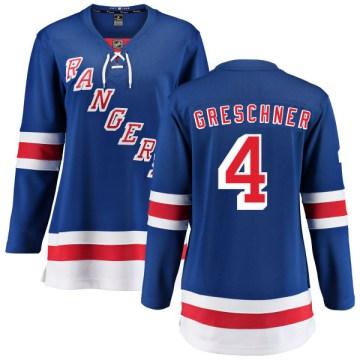Fanatics Branded New York Rangers Women's Ron Greschner Breakaway Blue Home NHL Jersey