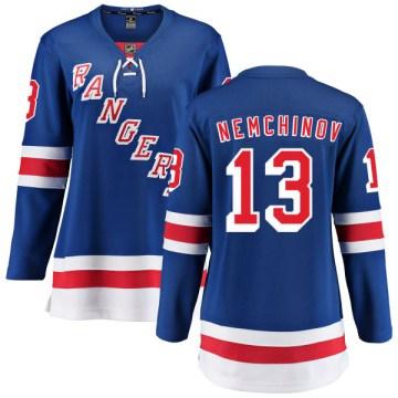 Fanatics Branded New York Rangers Women's Sergei Nemchinov Breakaway Blue Home NHL Jersey