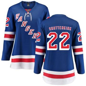 Fanatics Branded New York Rangers Women's Kevin Shattenkirk Breakaway Blue Home NHL Jersey