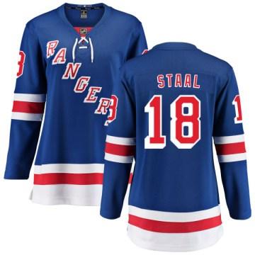 Fanatics Branded New York Rangers Women's Marc Staal Breakaway Blue Home NHL Jersey