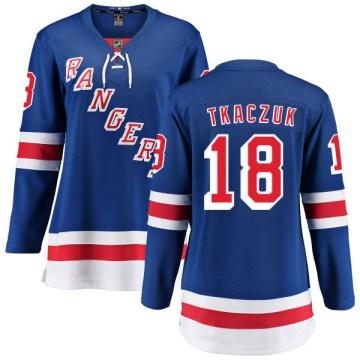 Fanatics Branded New York Rangers Women's Walt Tkaczuk Breakaway Blue Home NHL Jersey