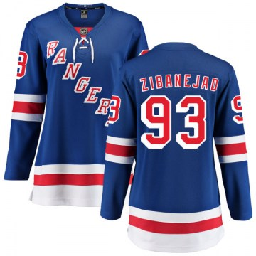 Fanatics Branded New York Rangers Women's Mika Zibanejad Breakaway Blue Home NHL Jersey